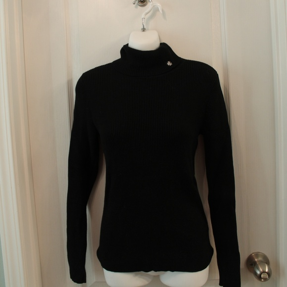 Lauren Ralph Lauren Sweaters - Lauren Ralph Lauren Ribbed Cotton Black Sweater MP